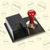 Kép 2/2 - Caffé Perla piros tömörítő / tamper 58mm