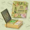 Kép 1/3 - Basilur Tea Book Bouquet filteres zöld tea válogatás (4 ízben) - fém díszdobozban