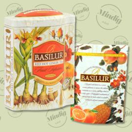 Basilur Tea Red Hot Ginger 100g gyümölcsös szálas tea - fém díszdobozban