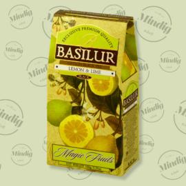 Basilur Tea Magic Fruits Lemon and Lime 100g gyümölcsös (citrom és lime) szálas fekete tea - elegáns papírdobozban