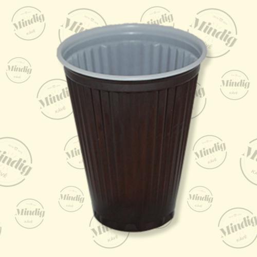 Műanyag pohár 150ml barna 100 db/csík (db ár)