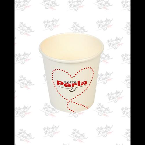Papír pohár 100 ml Caffé Perla fehér 50db/csík (db ár)
