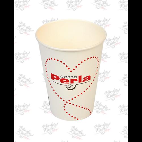 Papír pohár 350 ml Caffé Perla fehér 30db/csík (db ár)