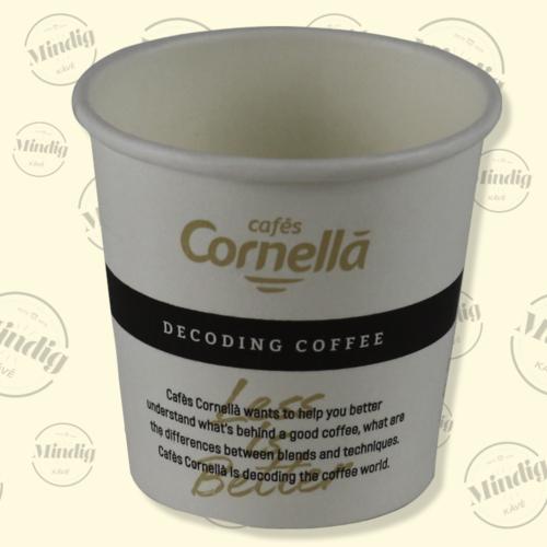 Papír pohár 100 ml Cafés Cornellá 100db/csík (csík ár)