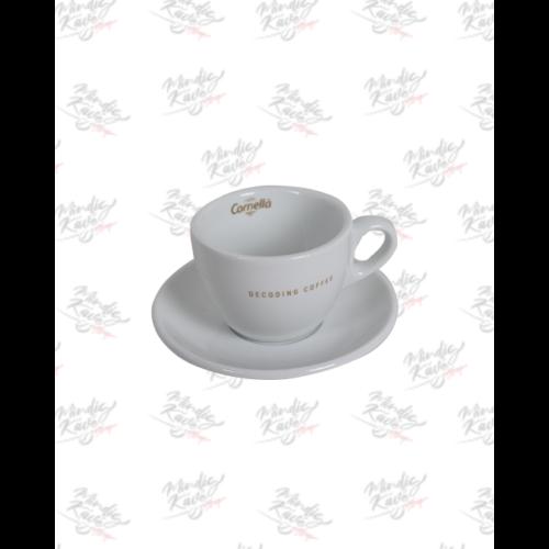 Cappuccino csésze+alj Cafés Cornellá Decoding Coffee