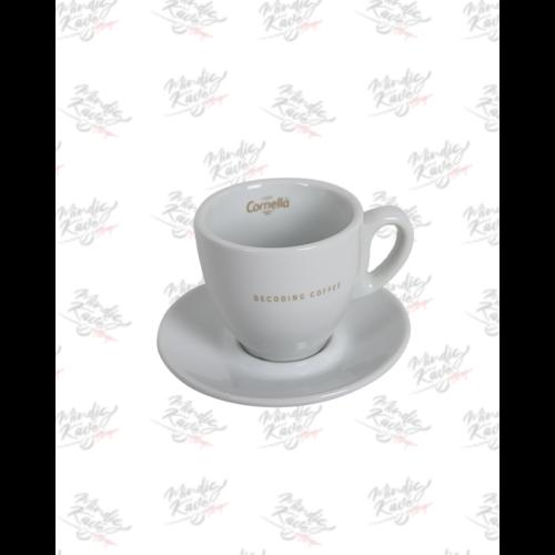Latte csésze+alj Cafés Cornellá Decoding Coffee