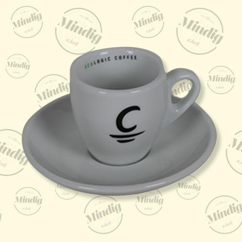 Espresso csésze+alj Cafés Cornellá ECO