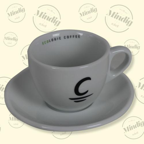 Cappuccino csésze+alj Cafés Cornellá ECO