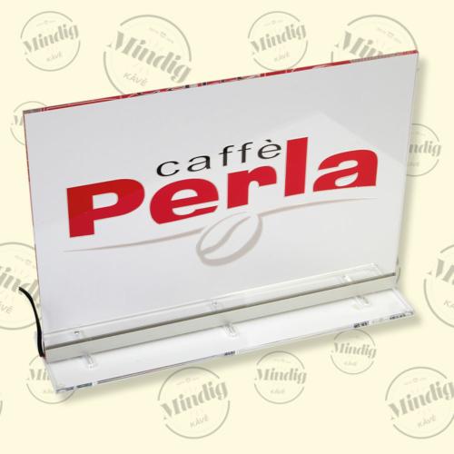 Caffé Perla asztali álló élvilágító tábla beltéri