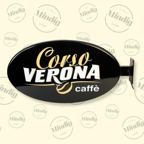 Corso Verona fekete világító tábla kültéri