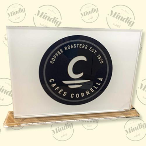 Cafés Cornellá asztali álló élvilágító tábla beltéri