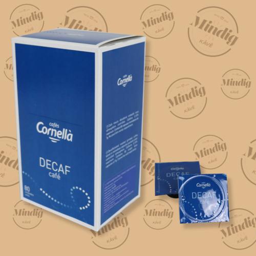 Cafés Cornella koffeinmentes őrölt kávé 7 grammos tasakban 80 db/doboz