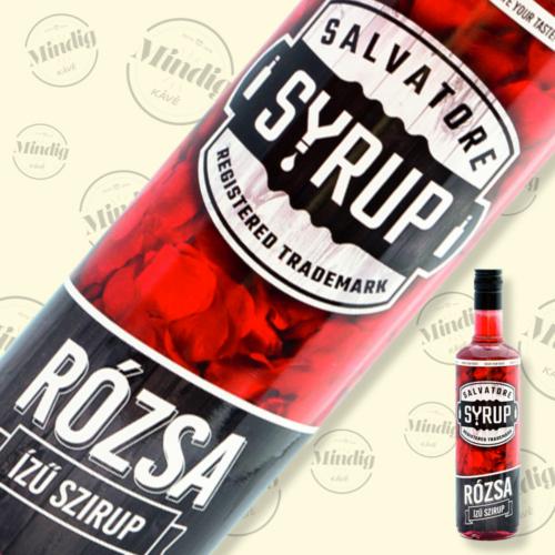 Salvatore Syrup rózsa ízű szirup 0,7liter