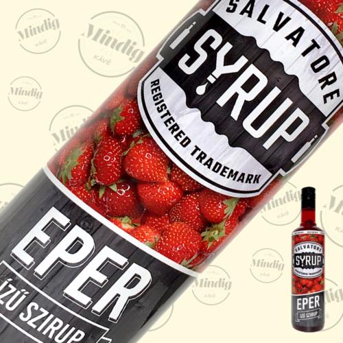 Salvatore Syrup eper ízű szirup 0,7liter