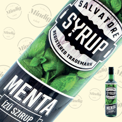 Salvatore Syrup menta ízű szirup 0,7liter