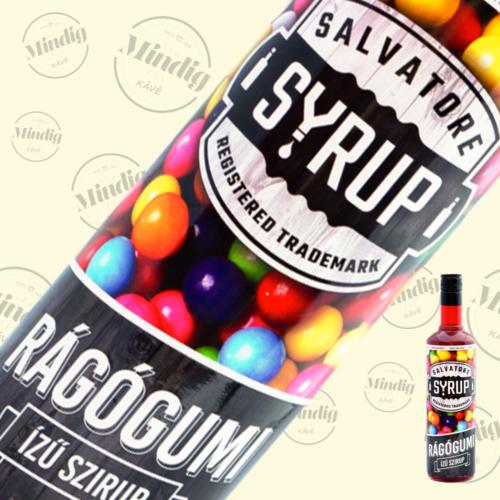 Salvatore Syrup rágógumi ízű szirup 0,7liter