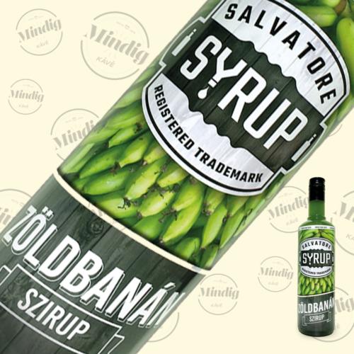 Salvatore Syrup zöldbanán ízű szirup 0,7liter