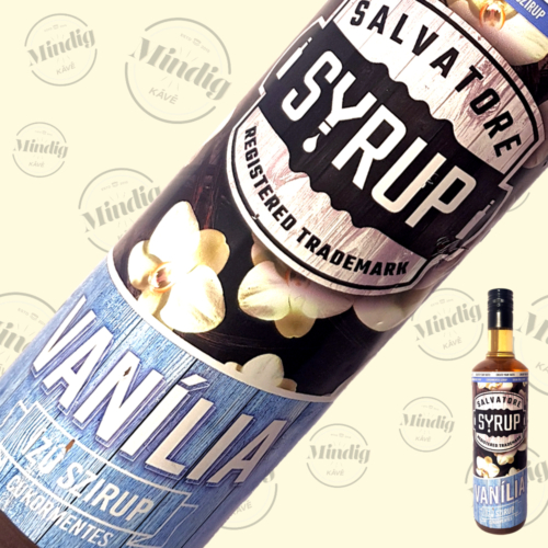 Salvatore Syrup cukormentes vanília ízű szirup 0,7liter