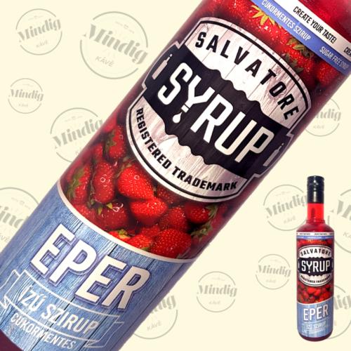 Salvatore Syrup cukormentes eper ízű szirup 0,7liter