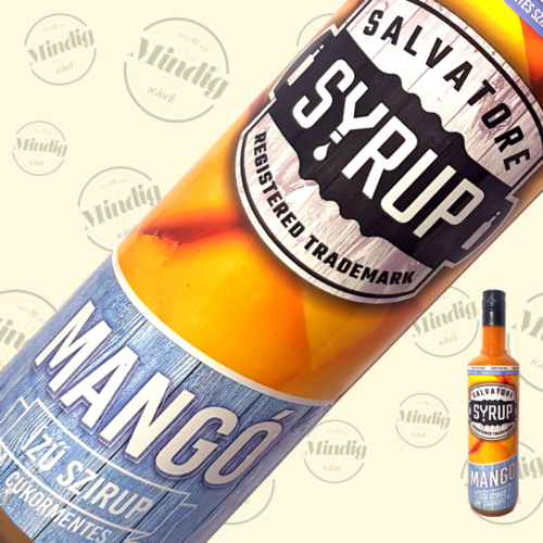 Salvatore Syrup cukormentes mangó ízű szirup 0,7liter