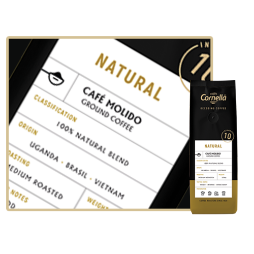 Cafés Cornella Natural őrölt kávé 250gramm