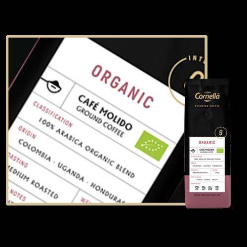 Cafés Cornella Organic őrölt kávé 250gramm