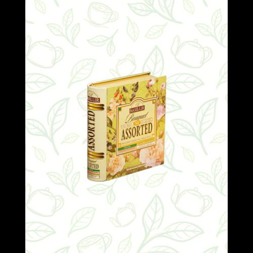 Basilur Tea Book Bouquet filteres zöld tea válogatás (4 ízben) - fém díszdobozban