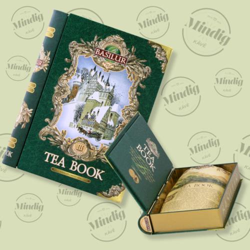 Basilur Tea Book vol III 100g szálas zöld tea - fém díszdobozban