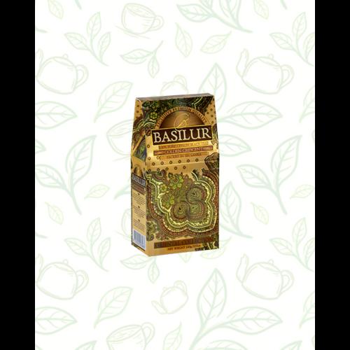 Basilur Tea Gold Crescent Oriental 100g szálas fekete tea - elegáns papírdobozban