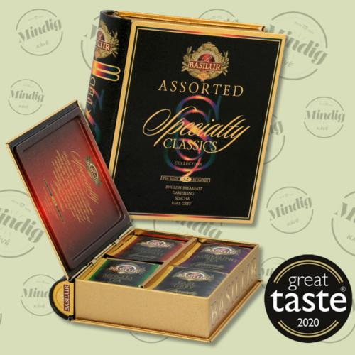 Basilur Tea Specialty Assorted Book filteres zöld és fekete tea válogatás (4 ízben) - fém díszdobozban