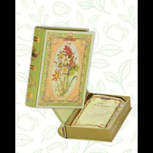 Basilur Tea Love Story vol I 100g szálas zöld tea - fém díszdobozban