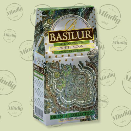 Basilur Tea White Moon Oriental 100g szálas zöld tea - elegáns papírdobozban