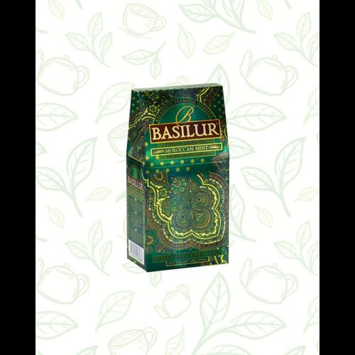 Basilur Tea Moroccan Mint Oriental 100g szálas zöld tea - elegáns papírdobozban