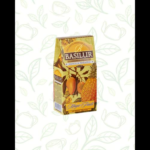 Basilur Tea Magic Fruits Mango&Pineapple 100g gyümölcsös szálas fekete tea - elegáns papírdobozban