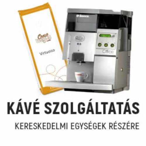 Kávészolgáltatás kereskedelmi egységek részére